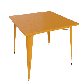 Legend Café Table, Orange