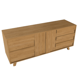 Bethan Gray for John Lewis Noah 2 Door3 Drawer Sideboard