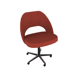 Saarinen Executive Side Chair w/ Casters - Boucle