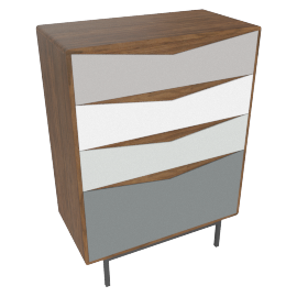 Louis tall chest of drawers