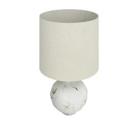 Passerine Bird Ceramic Table Lamp