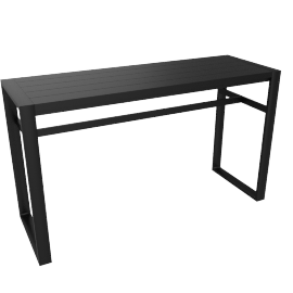 Eos Rectangular Bar Table, Black