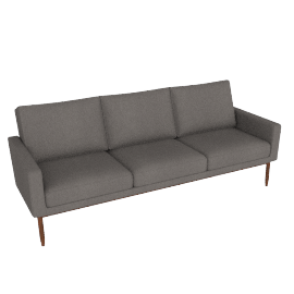 Raleigh Sofa - Slubby Weave, Heather