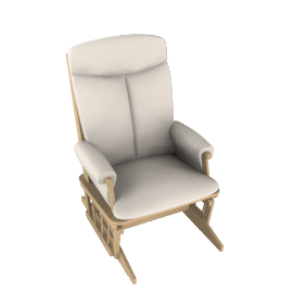 Polly Glider Chair, Soft Beige
