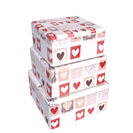 Emma Bridgewater Patchwork Hearts Tins, Set of 3