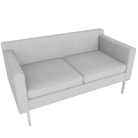 Theatre Two Seater, Soft Weave Fabric, Smoke