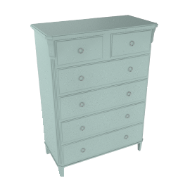 Louisa 6 Drawer Chest, Duck Egg