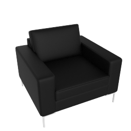 Arena Armchair, Scott Leather: Black