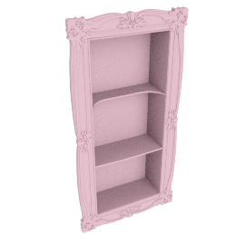 Lisa 3 compartment wall shelf Pink