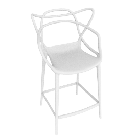 Kartell Masters Bar Chair, White