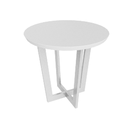 Havana end Table, White