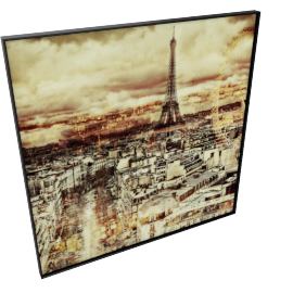 Twisted City Landscape Crystal Painting - 60x2.5x60 cms