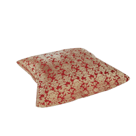 Moughal Floor Cushion - 60x60x14 cms, Red