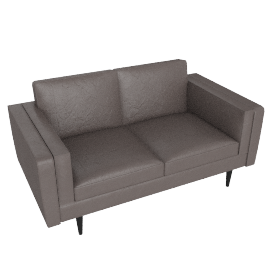 Chill 2 Seater Sofa, Suede Grey