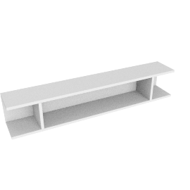 Match 120cm Floating Shelf Unit, White