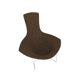Bertoia Bird Chair and Ottoman with Full Cover – Bouclé