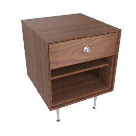 Nelson Thin Edge Bedside Table, Walnut