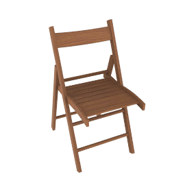 Buiani Folding Chair, Natural