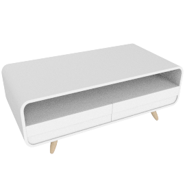 Esme coffee table, white