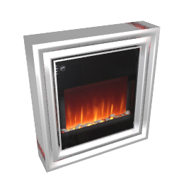 Burley Fuel-Effect Electric Fire, Greetham 556-S, Chrome