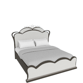Dorian Upholstered Super King Bed - 200x210 cms