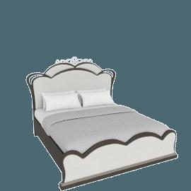 Dorian Upholstered Super King Bed - 200x210 cms
