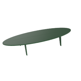 Bolinas Surfboard Coffee Table, British Green