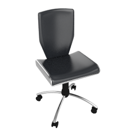 Neptune Leather Office Chair, Black