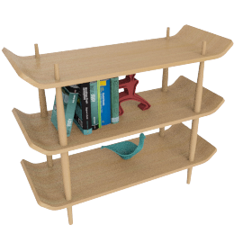 Bentwood Shelves, White Oak, Medium