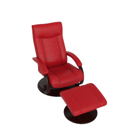 Gemini Recliner and Footstool, Ferrari Red