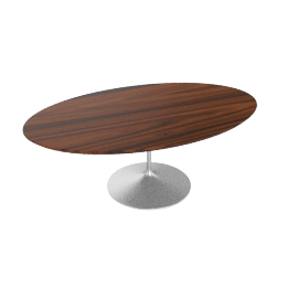Saarinen Low Oval Coffee Table - Rosewood - Plt.Rosewood