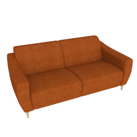 Newark Medium Sofa, Henley Terracotta