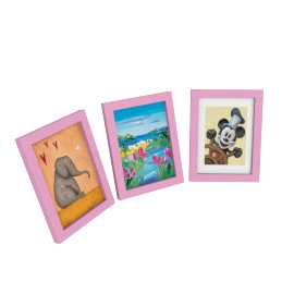 Bailey Photo Frame - Set of 3, Pink