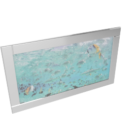 Aqua Scene Mirror Framed Picture - 116X66 cms