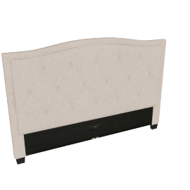 Stellar Ark King Headboard, Beige