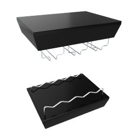 Montery Wall Shelf - Small, Black