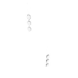 Jewel Drop Decoration, Assorted Designs, Silver
