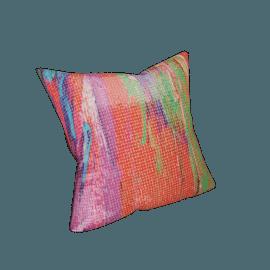 Berlin Embellished Printed Cushion - 45x45 cms