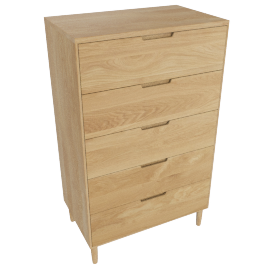 Raleigh Tall Dresser, Oak