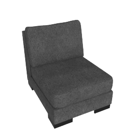 Signature 1 Seater Armless, Grey