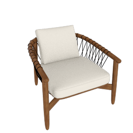 Crosshatch Chair, Walnut Frame, MCL Leather Pearl