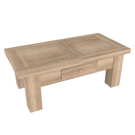 Bergerac Small Coffee Table, Vanille
