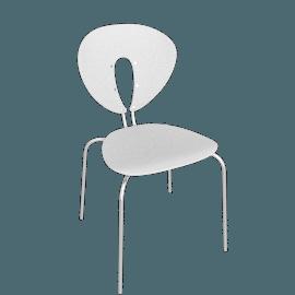 Globus Chair - Plastic/Chrome - Matte.White