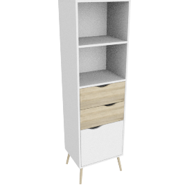 DELTA BOOKCASE 2 DRAWERS + 1 DOOR by tvilum
