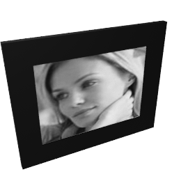 Midnight Glass Photo Frame, 7x5""