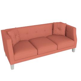 Elisa 3 Seater Coral