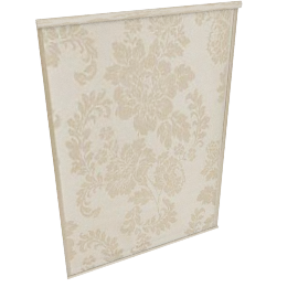 Floral Damask Blind, Bone W183cm