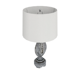 Aladfar Resin Table Lamp 72Cmh- Silver