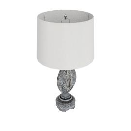 Aladfar Resin Table Lamp 72Cmh- Silver