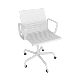 Eames® Aluminum Management Chair with Powder-Coated Frame - White.White